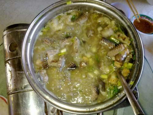 cách nấu cháo rắn đậu xanh