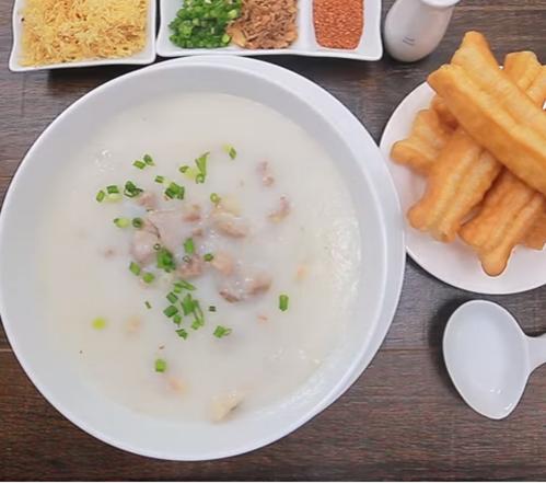 cách nấu cháo sườn bằng bột gạo