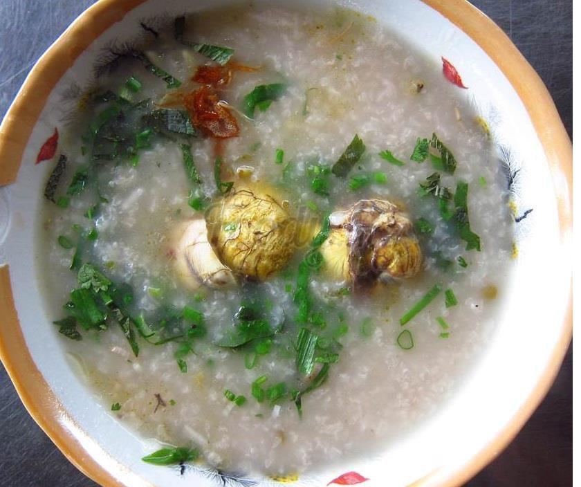 cách nấu cháo trứng vịt lộn ngon cho bé