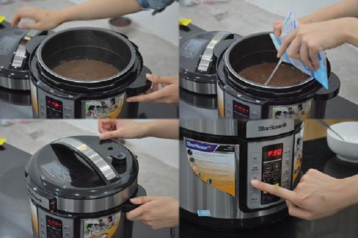 cách nấu chè đỗ đen bằng nồi áp suất