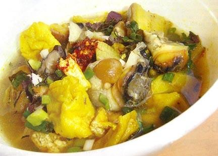 cách làm món ốc xào chuối đậu ngon