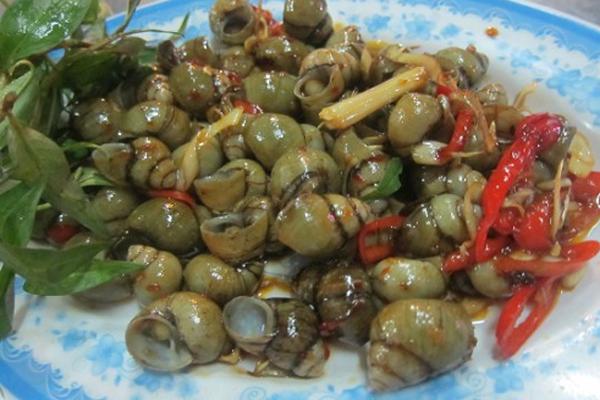 cách làm món ốc xào dừa