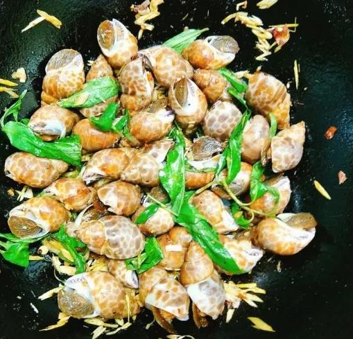 cách làm món ốc hương xào sả ớt